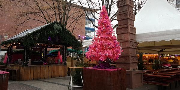 Rosa Weihnachtsmarkt Frankfurt 2021